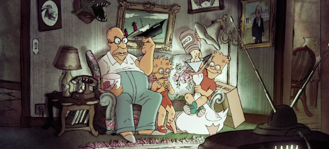 This Simpsons couch gag making fun of the French is hilarious fine art