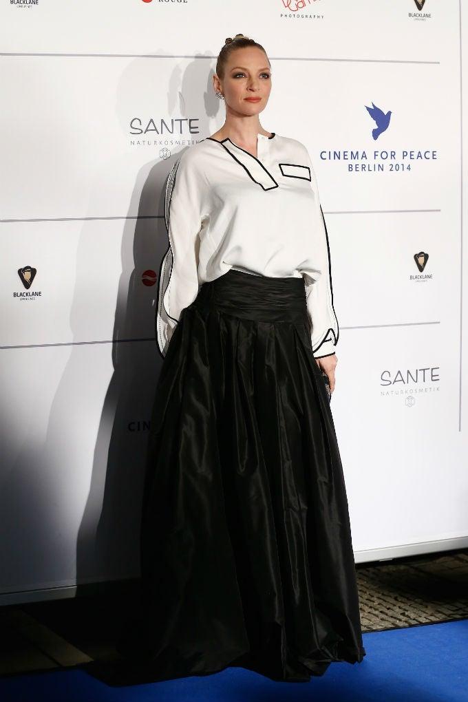 Uma Thurman is a Black and White Film Goddess