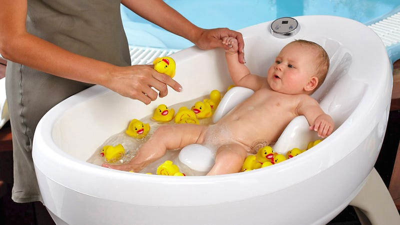 Baby Jacuzzi Is a Great Way To Relax After a Long Day Of Napping