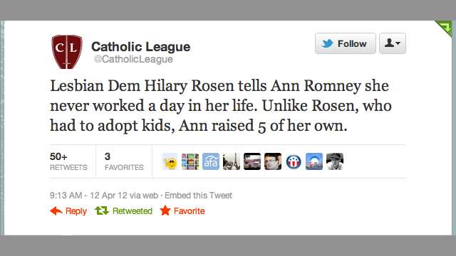 Catholic League Classes Up the Joint With Dig at Lesbian Moms