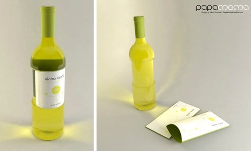 Vinho Verde, a Wine Bottle with Built-In Glasses