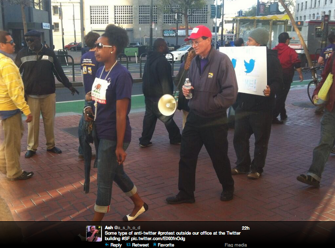 Service Employees Union Protested Outside Twitter's Headquarters