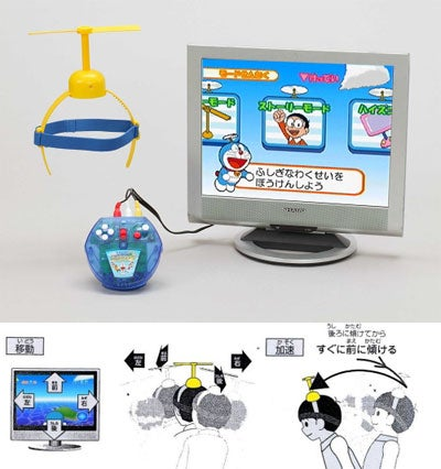 Doraemon Game With Strap-On Helecopter Hat