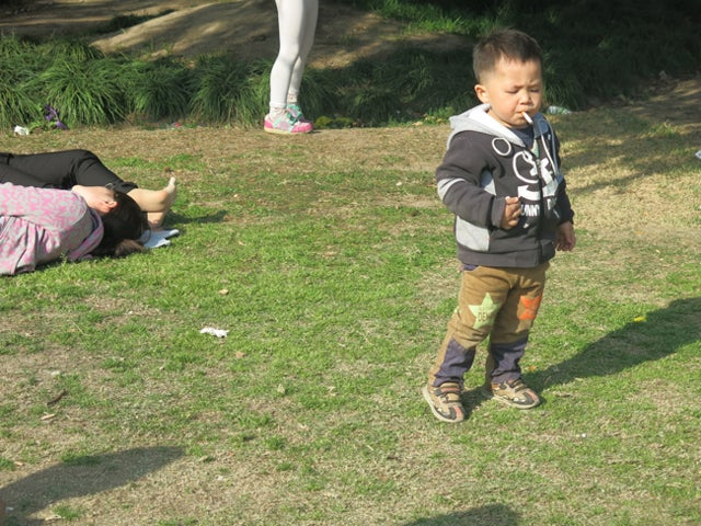 Shanghai's Hipster Smoking Baby Demands Smokes, Not Eggs, This Easter