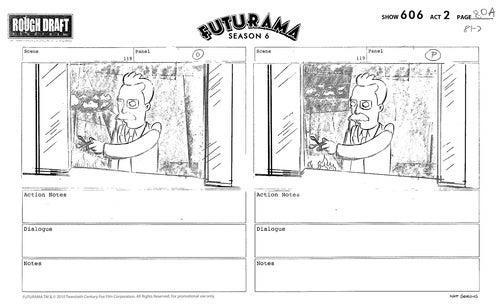 Futurama storyboards