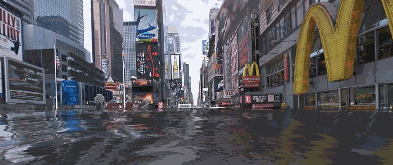 A Street View Mash-Up Shows Your Neighborhood After Sea Levels Rise