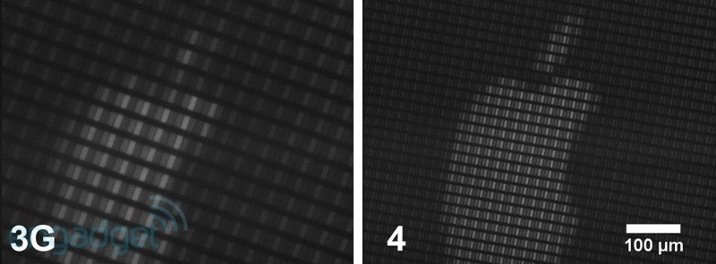 iPhone 4 and iPhone 3G Screens Compared Under a Microscope