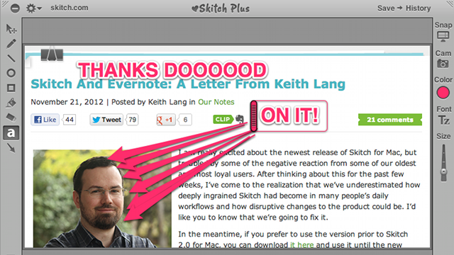 Skitch Founder Admits That Skitch 2.0 Is a Catastrophe