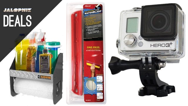 Deals: Garage Cleaning Caddy, GoPro Black, Handheld Water Blade