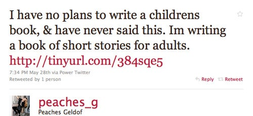 Peaches Geldof Does Not Know Why Everyone Thinks Her Book Is for Children