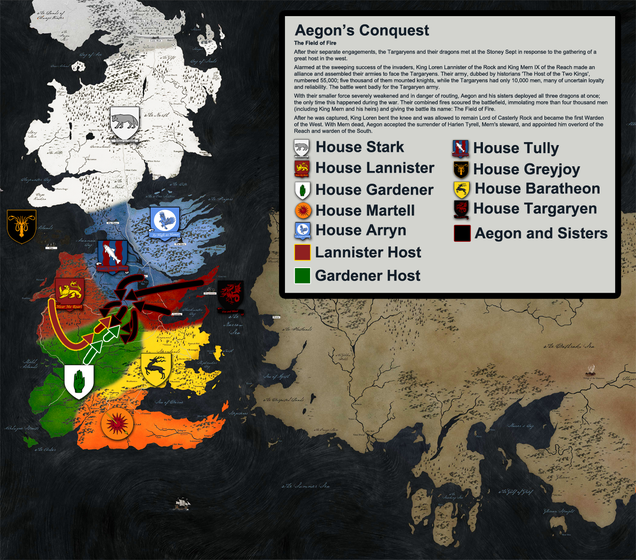 The Entire History Of Westeros Told Through More Than A Dozen Maps