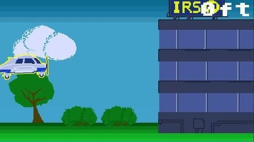IRS Plane Crash Flash Game is Quick and Tasteless