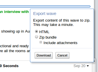 Export Google Waves as ZIP Archives Before the Shut-Off