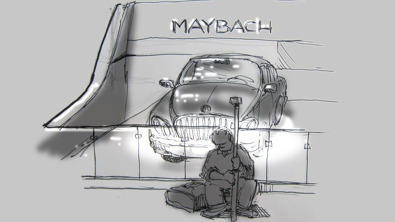 Livesketching the 2012 Detroit Auto Show: The Loneliest Spot Here