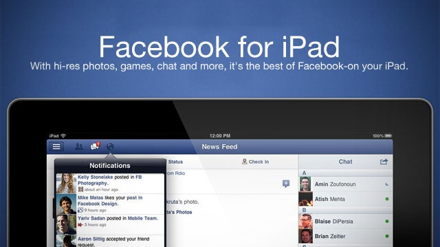 Facebook for iPad Offers Full Screen Games, AirPlay-Compatible HD Video, and More