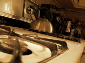 Use Boiling Water for Easy Stove Top Cleaning