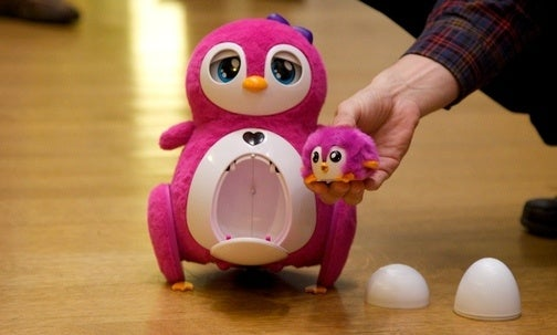 "Bossa Nova Penbo: The ""First Real Robot for Girls"" Is a Pink, Waddling Penguin With a Baby"