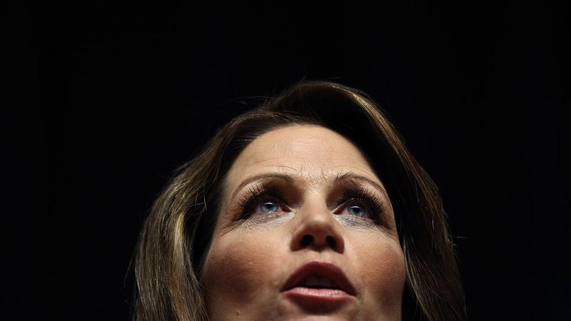 Michele Bachmann Rides In on Her Crazy Horse to Warn Us That Obama Kills Babies