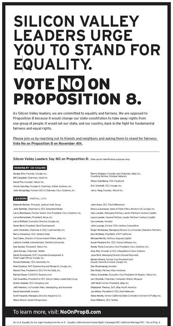 The Tech Companies That Helped Fight Proposition 8