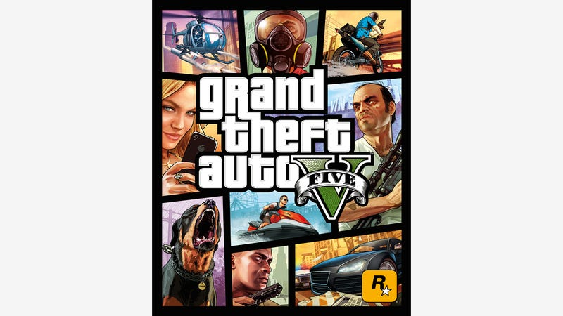 The Official Grand Theft Auto V Box Art, In All Its Mosaic Splendor