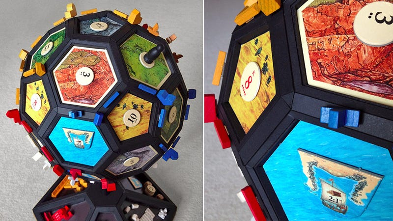 How To Turn the Settlers Of Catan Board Into a Globe