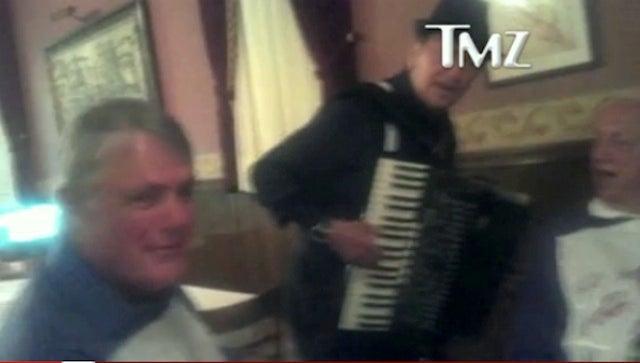 Wearing A Fish Bib And Singing An Italian Song Did Not Give Tommy Lasorda Or Lou Piniella A Heart Attack, TMZ Says