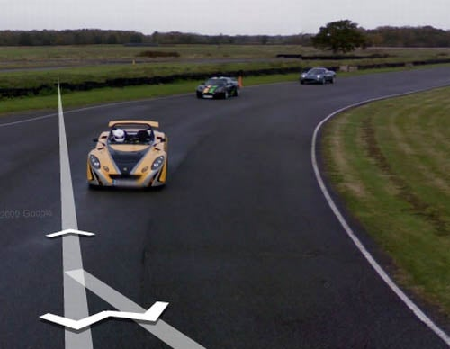 Google Street View Drives Lotus Test Track