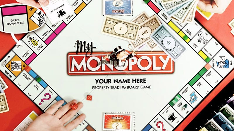 My Monopoly Lets You Name Your Own Properties on a Custom Board