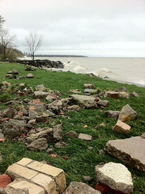 Hurricane Sandy Threw Pieces Of Cleveland Municipal Stadium Out Of Lake Erie