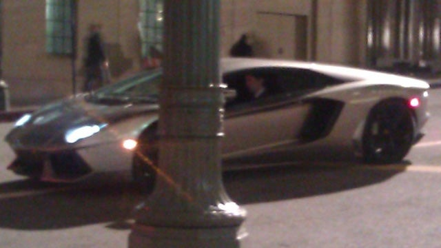 "Bruce Wayne trades up to a Lamborghini Aventador for ""The Dark Knight Rises"""