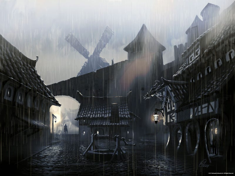 This Skyrim Concept Art Isn't Afraid to Fight Dragons