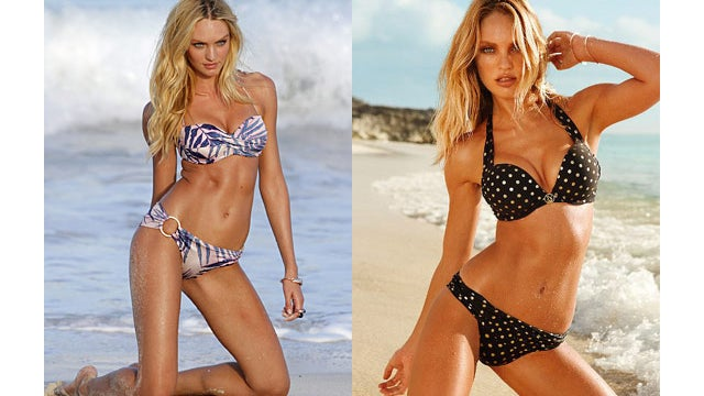 A Victoria's Secret Model With and Without Photoshop