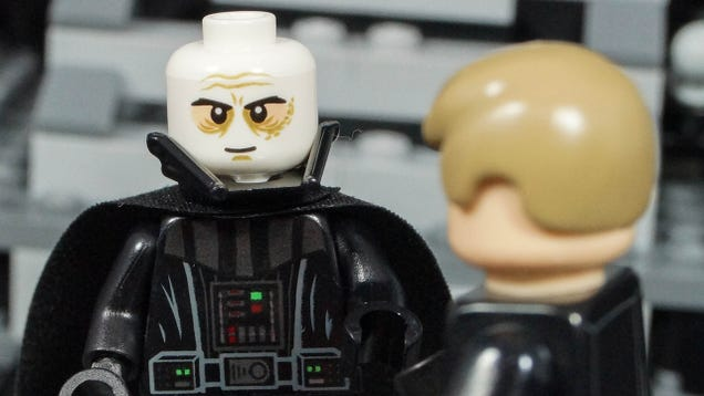 The new Vader Minifig has a two-piece helmet just like in the movies