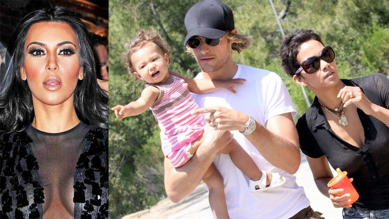 How Kim Kardashian Came Between Halle Berry and Her Baby's Father
