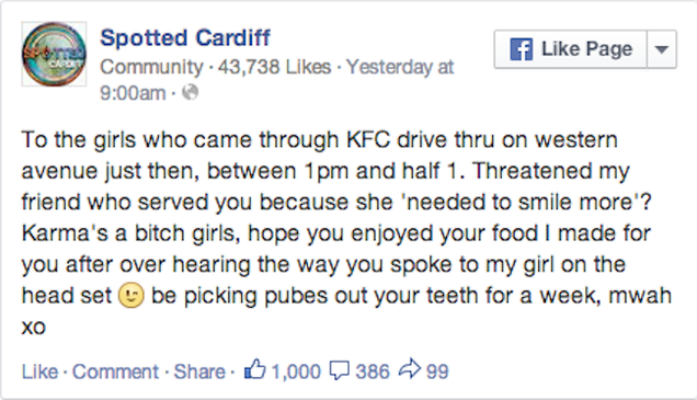 KFC Apparently Not Cool with Employees Adding Pubic Hair to Orders