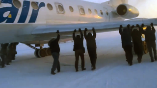 If Your Plane Is Frozen To The Ground, Just Push It