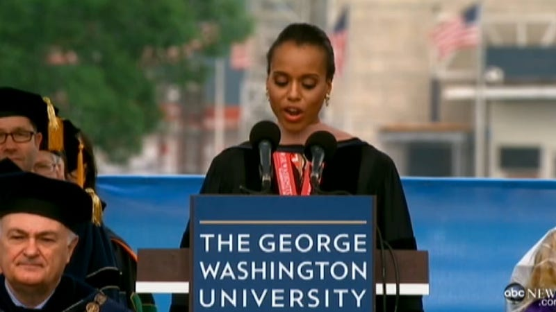 Kerry Washington Tells GW Grads All About Her Frog Years