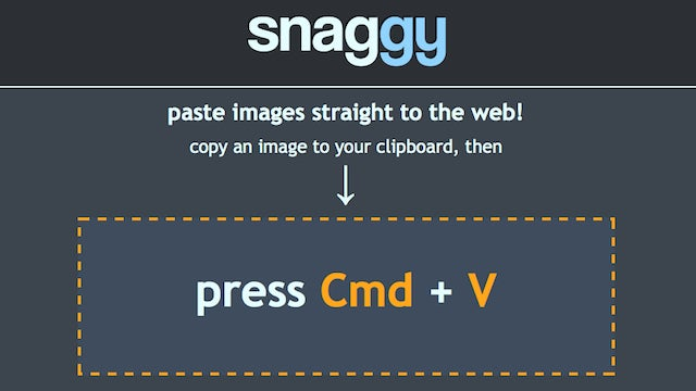 Snaggy Uploads Images to the Web with Two Keystrokes
