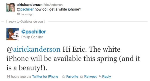 "White iPhone Coming ""This Spring,"" Says Apple's Phil Schiller"
