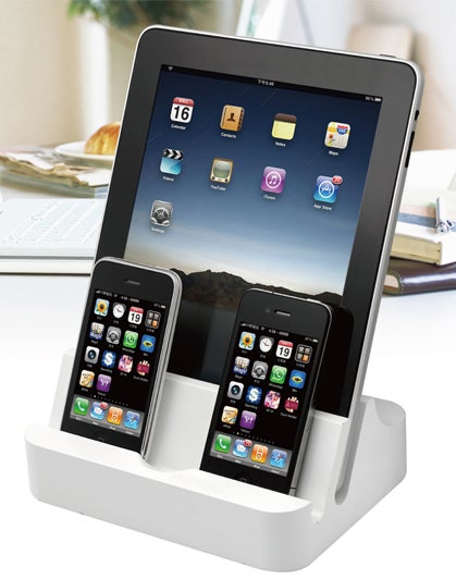 PhotoFast iPADock: Charge 2 iPads, 4 iPhones, or 6 iPod Nanos Simultaneously