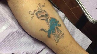 This Guy Just Got A Detroit Lions 'Super Bowl 2015 Champs' Tattoo