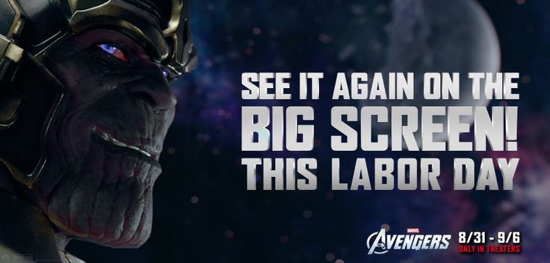The Avengers will reassemble in theaters this Labor Day weekend
