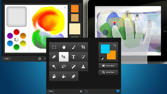 Adobe Photoshop Touch Apps Let You Fingerpaint, Mix Colors, and Manipulate Photoshop on Your iPad