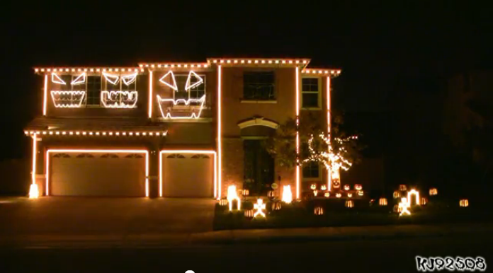 The Awesome Halloween Light Show You're Glad Isn't On Your Block