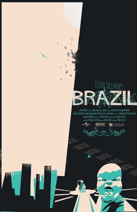 Amazing minimalist poster for Terry Gilliam's Brazil will drive you out of your head