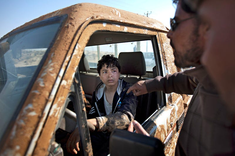 This kid stole a truck to escape Libyan forces