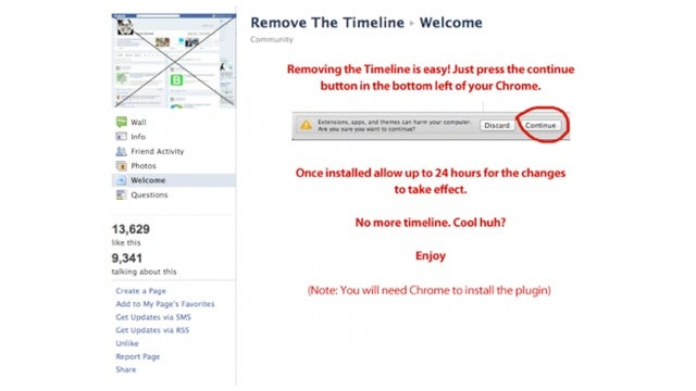 No Matter What Facebook Scammers Tell You, You're Stuck With Timeline FOREVER