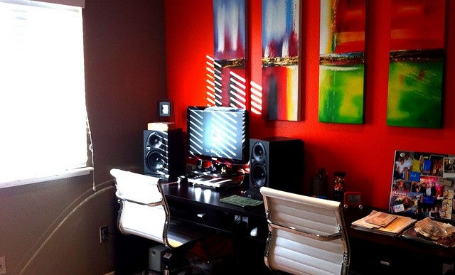 Before and After: A Colorful Workspace Makeover