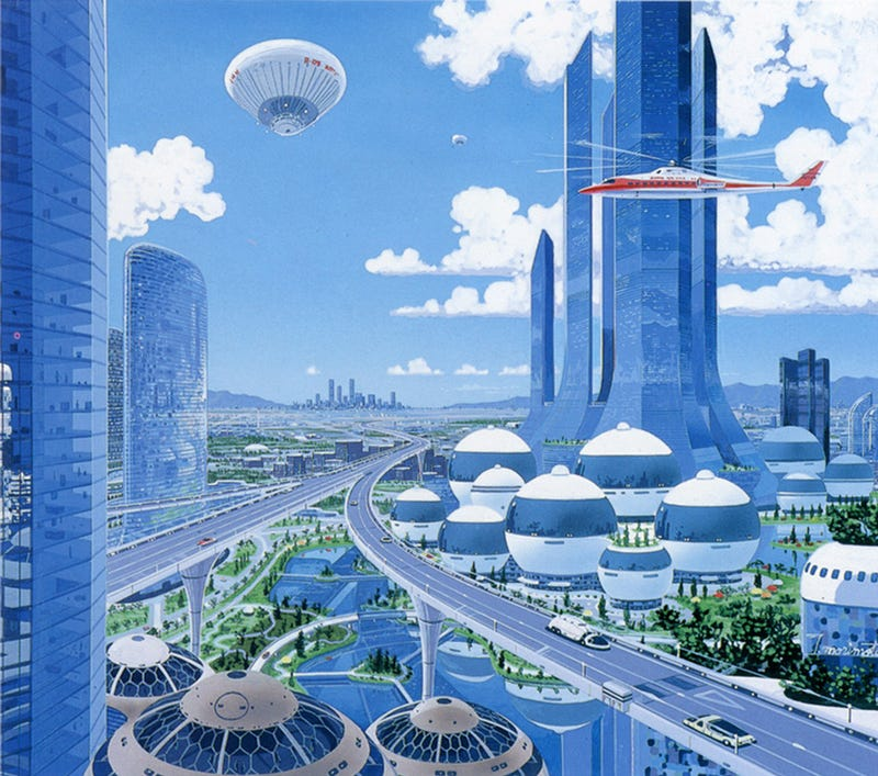 The Psychedelic Japanese Cityscapes Of Decades Past