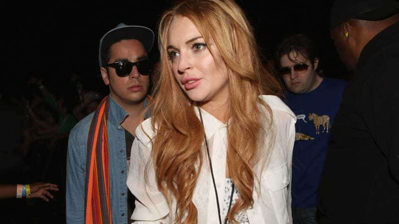 Lindsay Lohan Hospitalized After Crashing Her Porsche